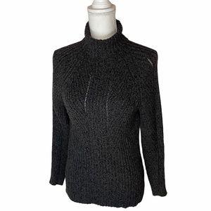 Sundance Toasty Dimensions Turtleneck Sweater Grey